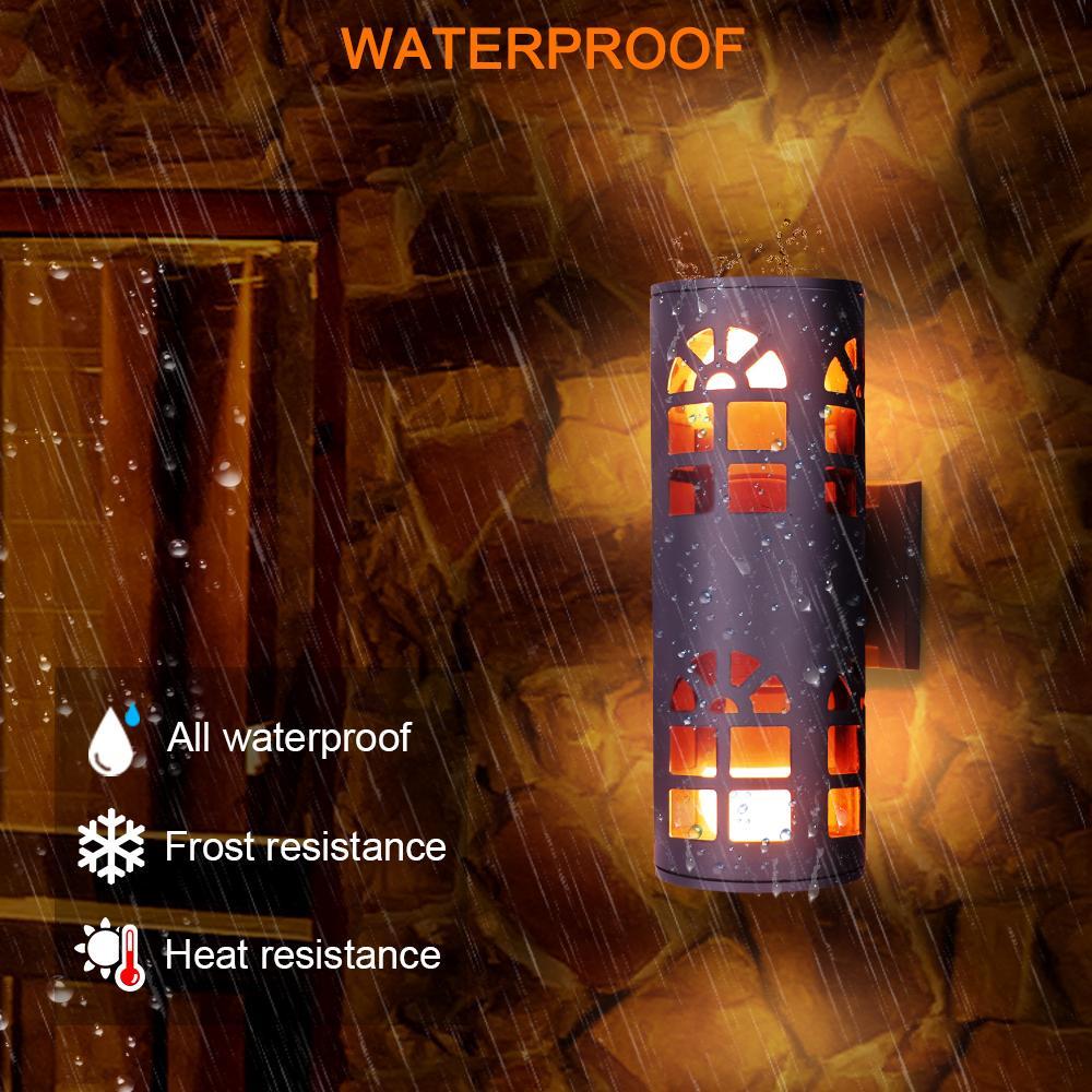 Wall Light Led lâmpada de cabeceira RGB Remote Control Led principal dobro Outdoor Wall Light Garden Outdoor Luz impermeável ao ar livre