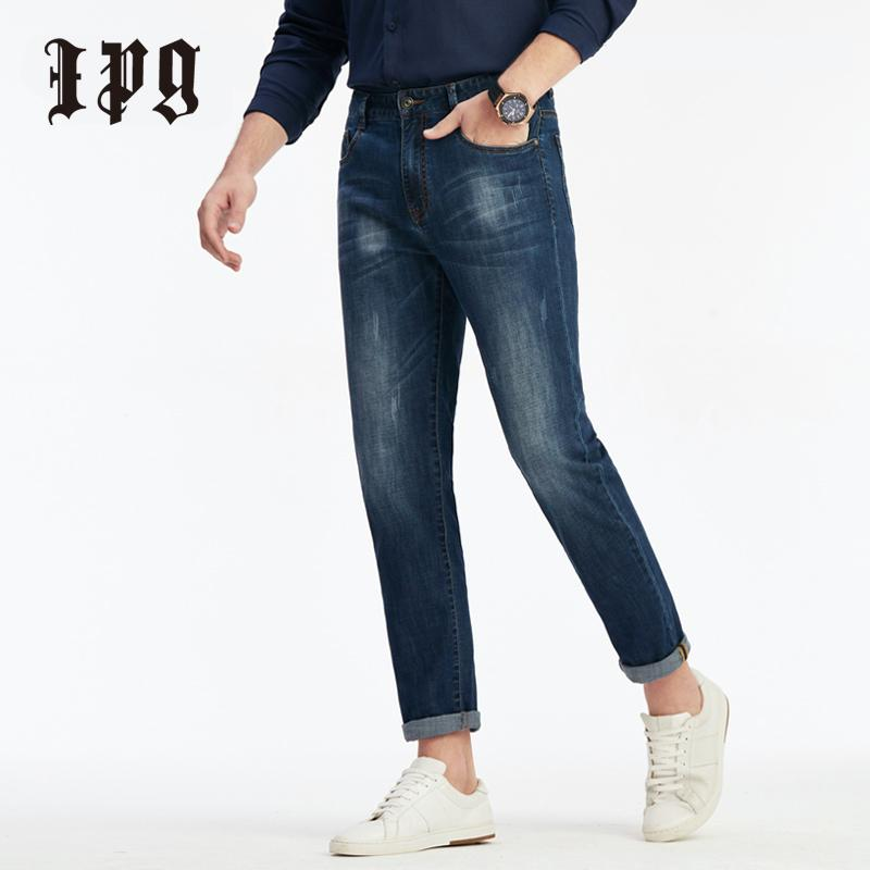 Ipg 2020 Frühlings-Herbst-Mode-Männer Jeans Zerkratzt Dünne Stretch Slim Fit beiläufiger Hosen-Mann Klassische Denim-Hose für Männer 80513