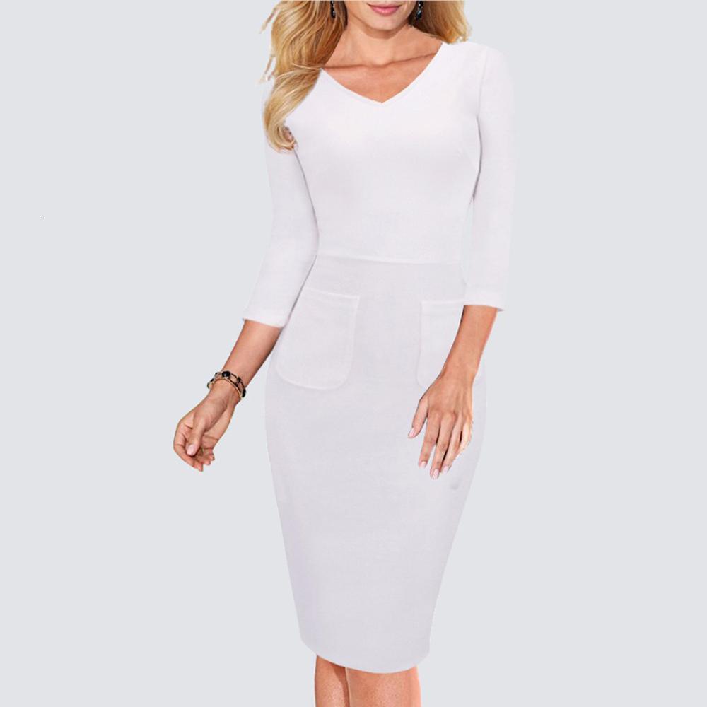 Le donne elegante indossare per Office Work Busin misura fodero matita Dr Classic V Ne Ba completa Zipper aderente Dr H683