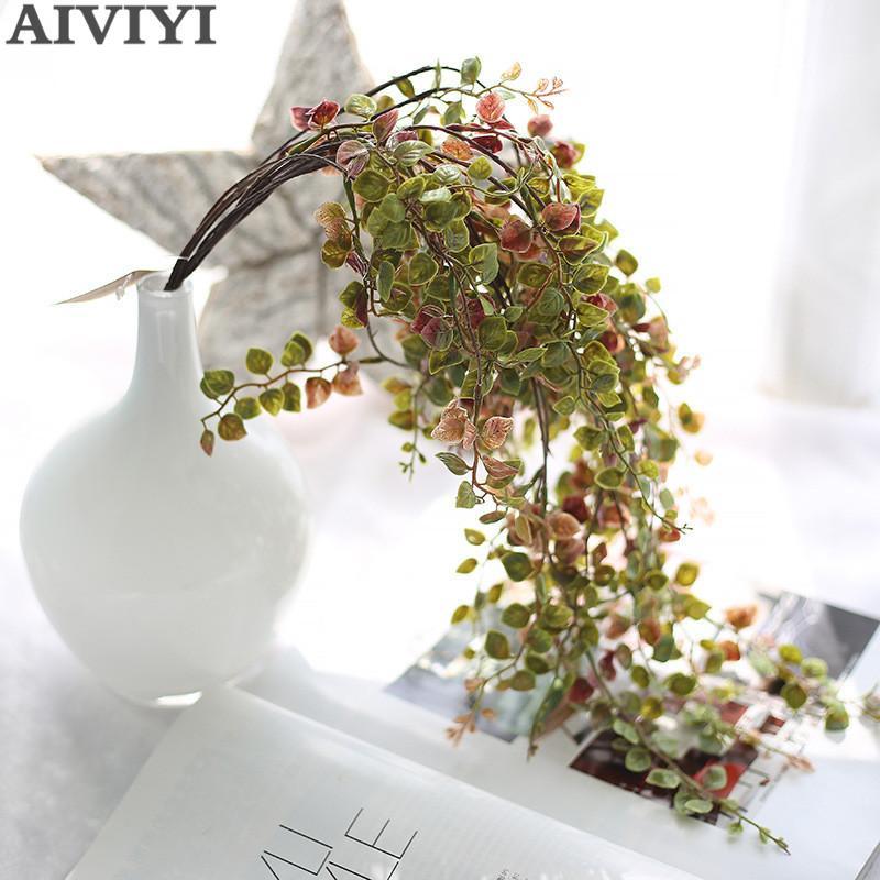 impianto di plastica artificiale muro verde foglia oro e argento pianta di glicine fiore della vite giardino di nozze fai da te parete della decorazione