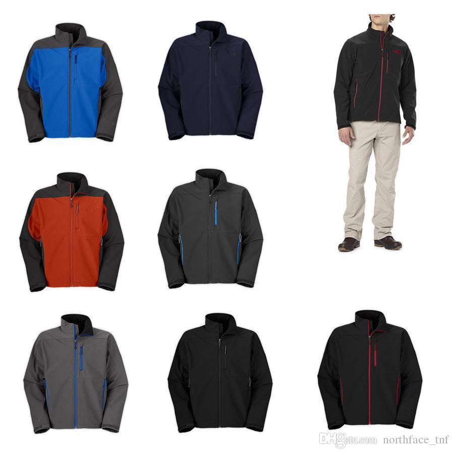 prix bas visage à capuche en molleton pour homme Apex Bionic au nord Vestes Softshell Mode Outdoor coupe-vent imperméable Escalade outwear bla