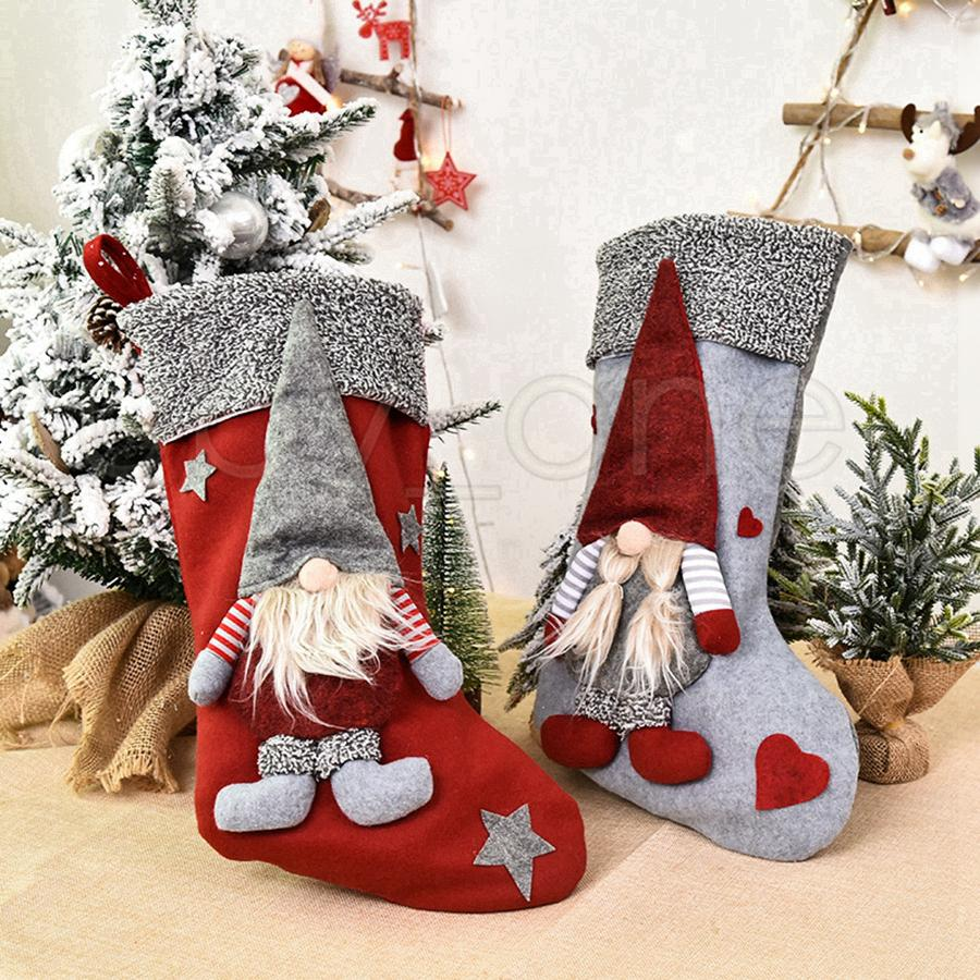 Christmas Stockings Doll Santa Claus Xmas Socks Gift Bag Cute Christmas Tree Ornaments Party Christmas Decorations Rra3458 From Shuaijinjin China 2 39 Dhgate Com