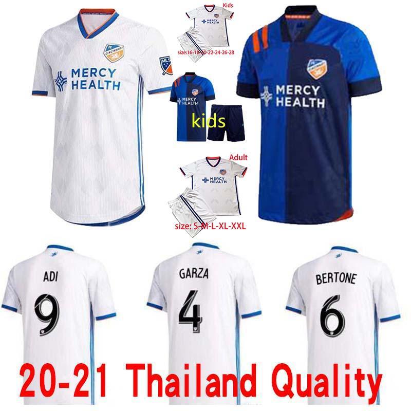 2020-2021 FC سينسيناتي الكبار عدة 2 WASTON 4 GARZA 6 BERTONE 9 ADI 15 A.CRUZ جيرسي لكرة القدم 20 21 التايلاندية نوعية كرة القدم البلوزات قميص