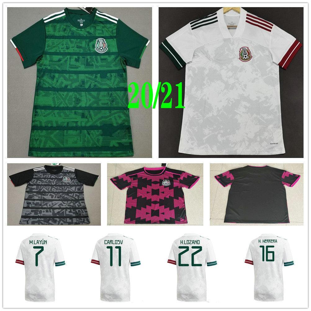 2020 2021 المكسيك الفانيلة كرة القدم h.lozano g.dos سانتوس تشيتشاريتو m.layun h.herrera مخصص المنزل بعيدا الرجال النساء الاطفال لكرة القدم القمصان