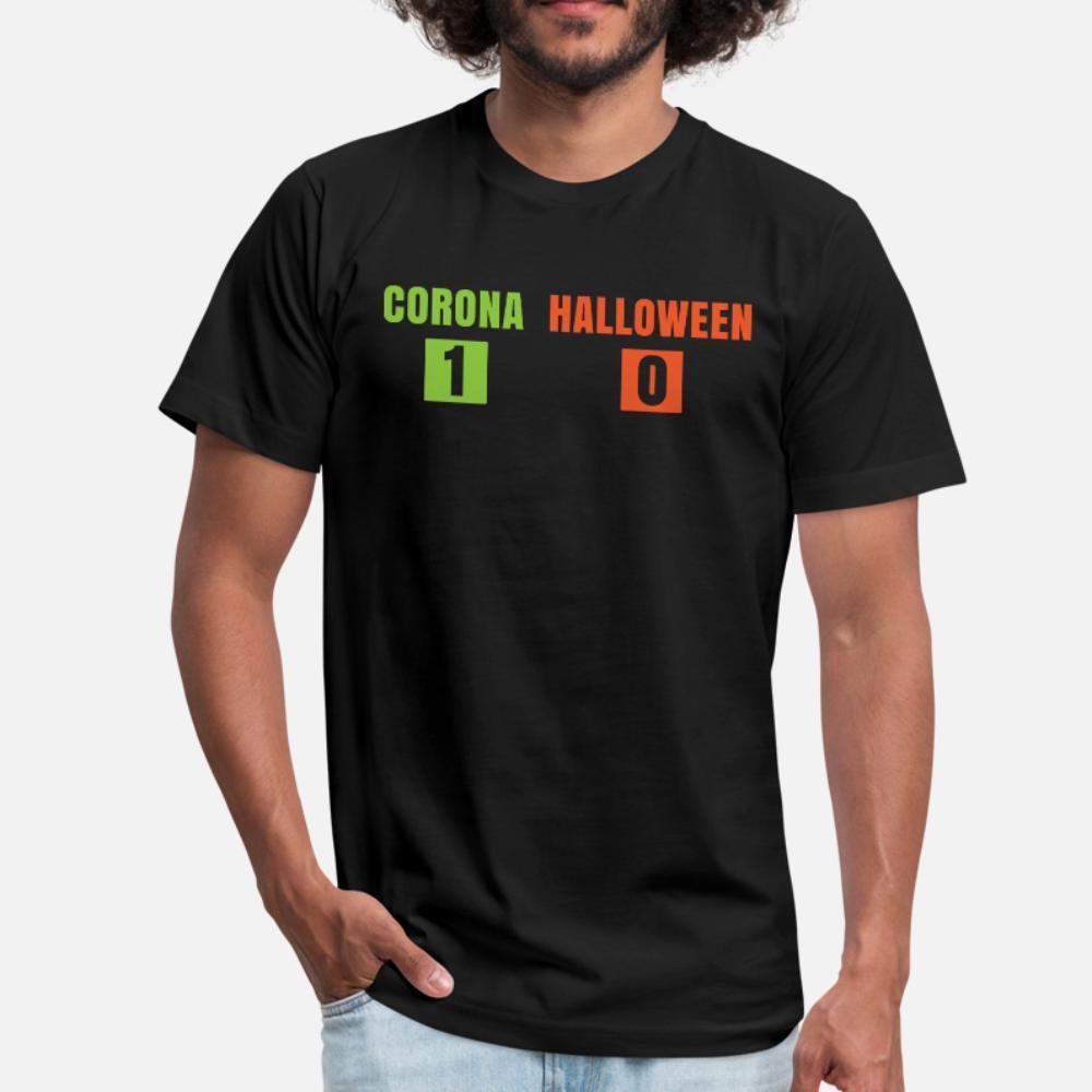 Corona 1 Halloween 0 T-Shirt Männer Designing 100% Baumwolle Euro-Größe S-3XL Homme Grafik Comical-Sommer-Art normal Hemd