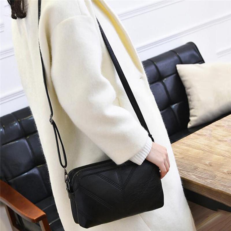 2020 de alta calidad de las mujeres del bolso de lujo bolsa de mensajero de cuero suave de la PU de hombro manera de las señoras Crossbody bolsos femeninos
