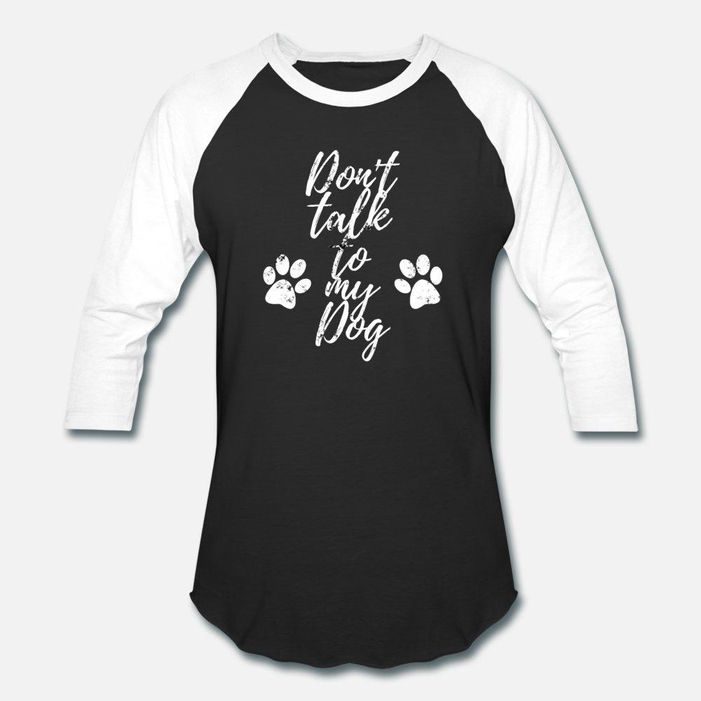 Lustige Hundetatzen-Zitat T-Shirt Männer anpassen aus 100% Baumwolle O-Ansatz Muster-Grafik Mode-Frühlings-Herbst Bilder Hemd