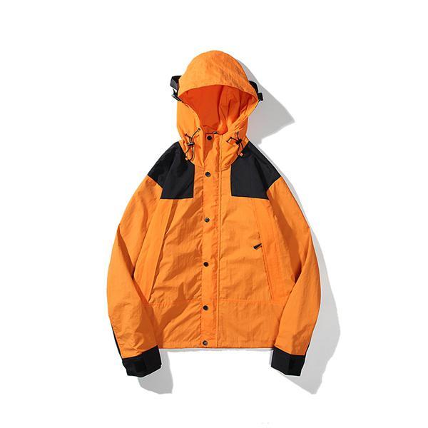 antistatik Açık Streetwear Windproof Erkek Tasarımcı Ceket Ekleme Kontrast Renk Ceketler Moda Erkek Marka WINDBREAKER Coat