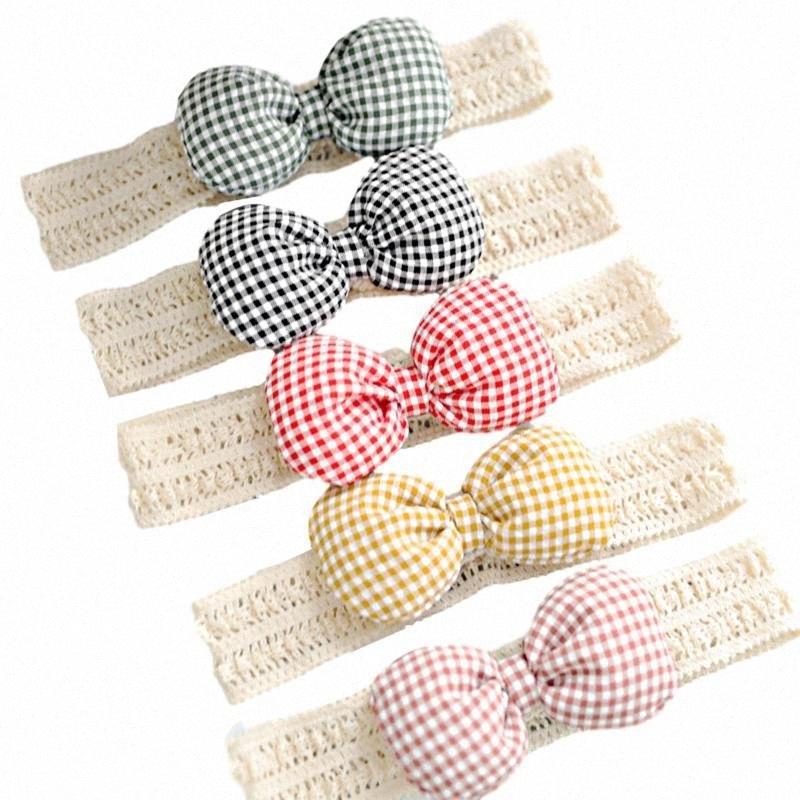 Pudcoco Recém-nascido Bebé Meninas Headband da fita elástica bebê cocar cabelo caçoa a menina banda Bow Knot manta Verifique Headwear t37j #