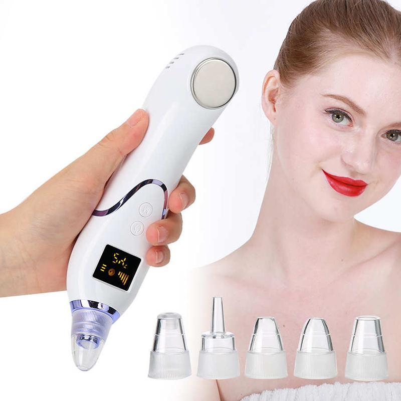 Removedor de la espinilla caliente e instrumento compresa fría durante cuidado de la piel eliminando los puntos negros y acné acné facial eléctrica J1250 eliminación