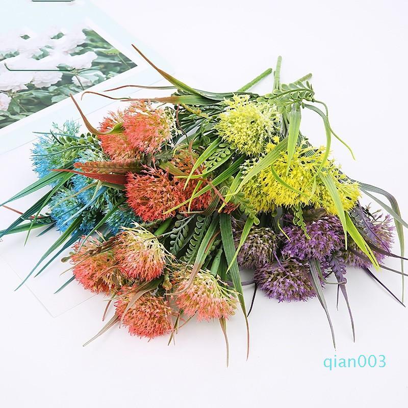 Искусственный цветок Home Decor Semi Механические Цветы одуванчика Opp упаковки многоразового Букет Универсала с различным цветом 3 2ql J1