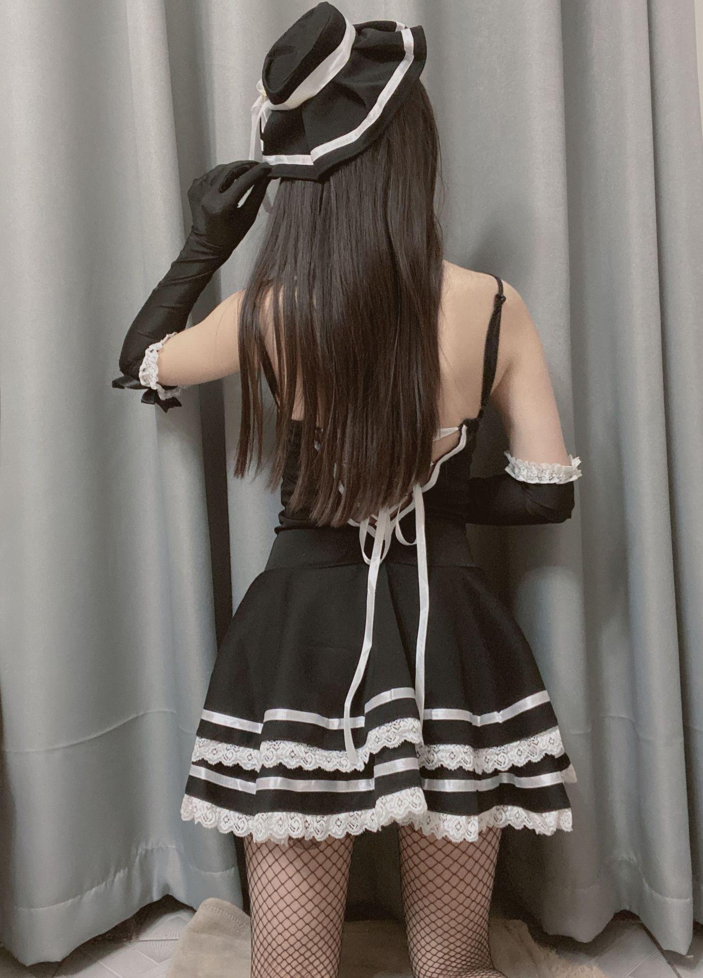 SEWaO amour Ruru nouveau sous-vêtements sexy princesse uniforme robe jarretelle mignonne robe jupe jarretelle fille jeu princesse tentation