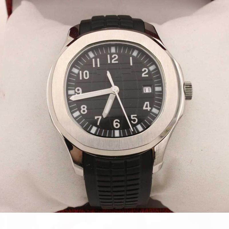 orologi di lusso automatico quadrante nero argento di scheletro Elastico posteriore trasparente Aquanaut 5167 1A -001 orologio Monor Hemmo mens orologi di lusso