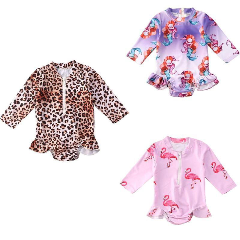 Hot Summer Baby-Kind-Karikatur-Tankini Bikini-gesetzte Badebekleidung Zu einteilige Badeanzug Kleinkind-Karikatur druckt Bademode