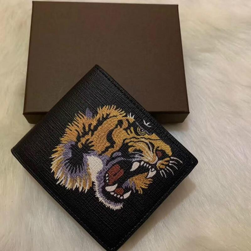 New- Short Wallet Leather black snake Tiger bee Wallets Women Long Style Purse Wallet card Holders with gift box