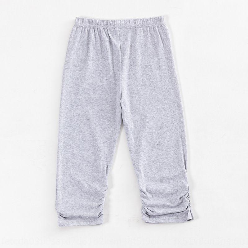 K0BHU wear Silk cotton leggings outer tight pants women's Tight Ice large summer 20 new large size plus fat plus thin slim waist Capri pants