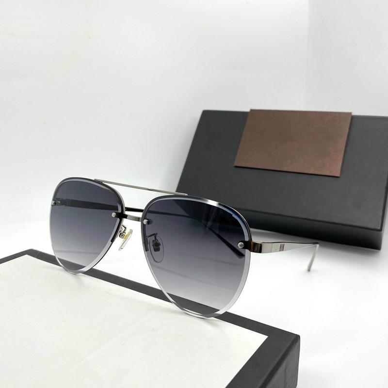 0436S مصمم النظارات الشمسية عدسة متصلة البيضاوي نمط للجنسين شبه بدون شفة 0436 النظارات الشمسية حملق شعبية ذات جودة عالية تأتي مع حالة UV 400