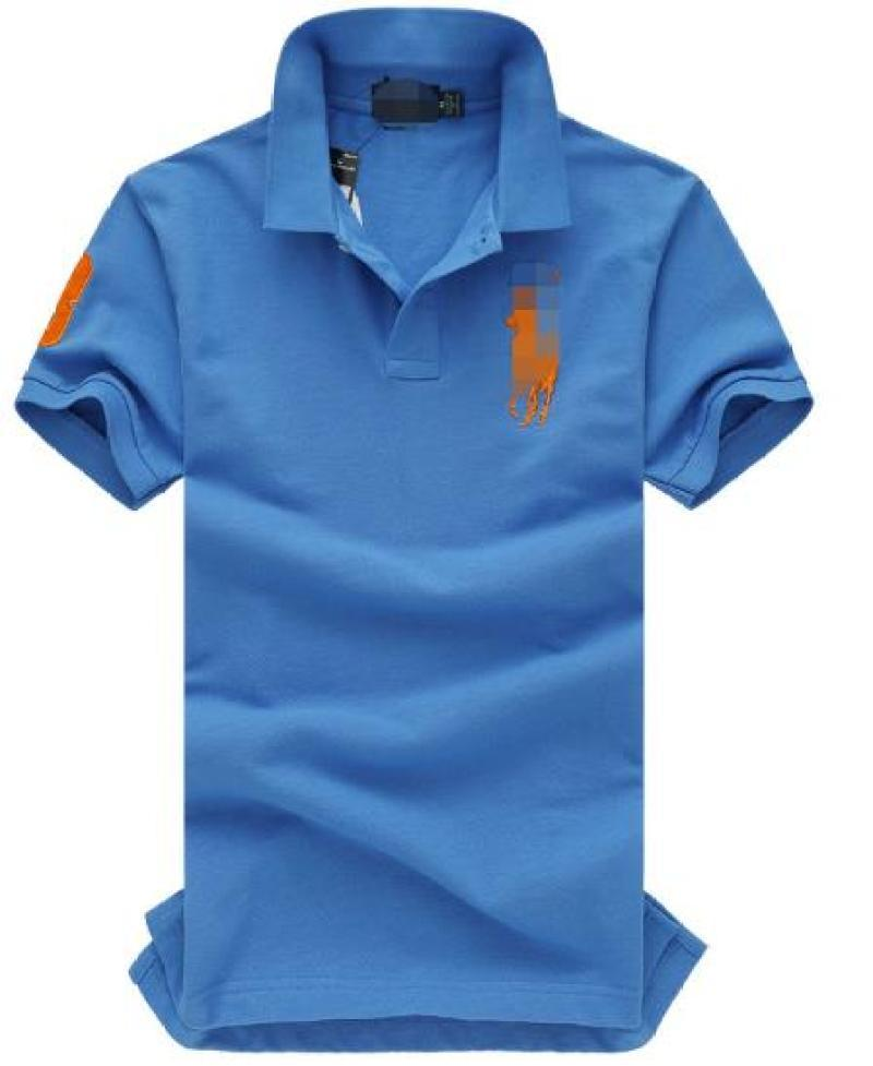 Del Leisurely Blu Men In primavera e in autunno Render T-shirt con maniche corte 1866