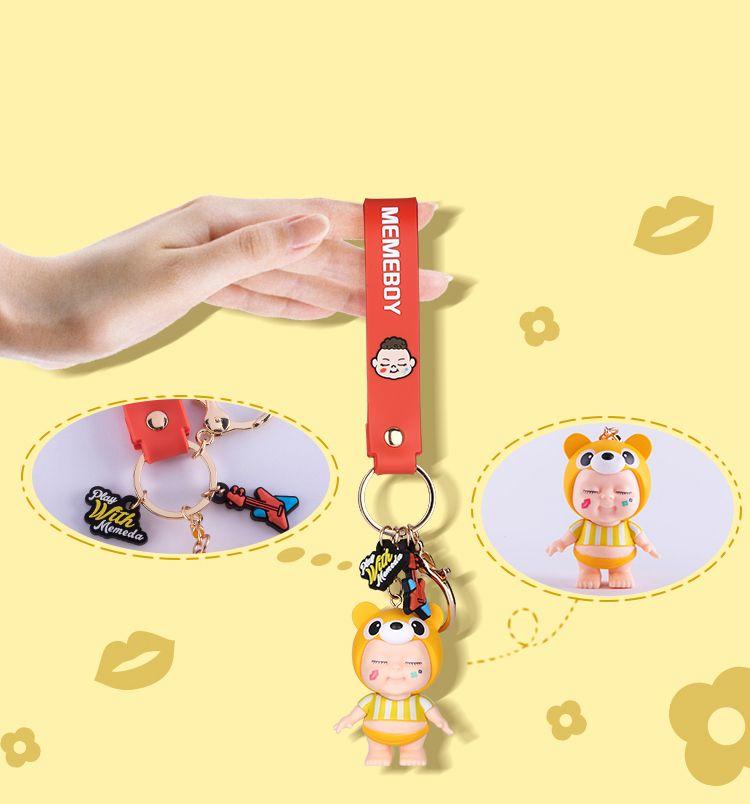 40pcs of Cartoon Cute Baby Doll Anime Regenboog Pvc Great Gift Sleutelhanger Voor Mannen Vrouwen Tas Ornament Meisjes Sleutelhanger