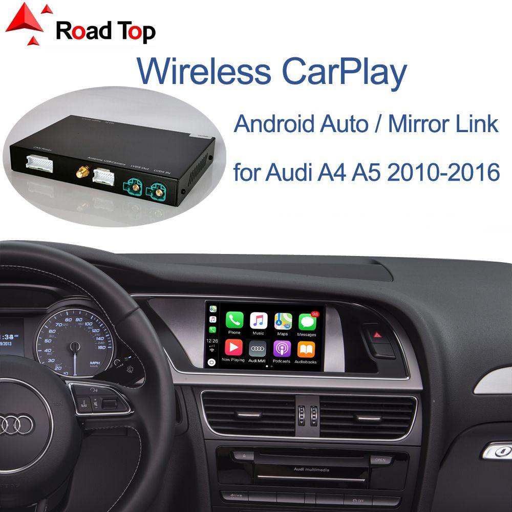 Wireless Apple, CarPlay Android Авто интерфейс для Audi A4 A5 2009-2015, с зеркалом Link Функции Play AirPlay Car