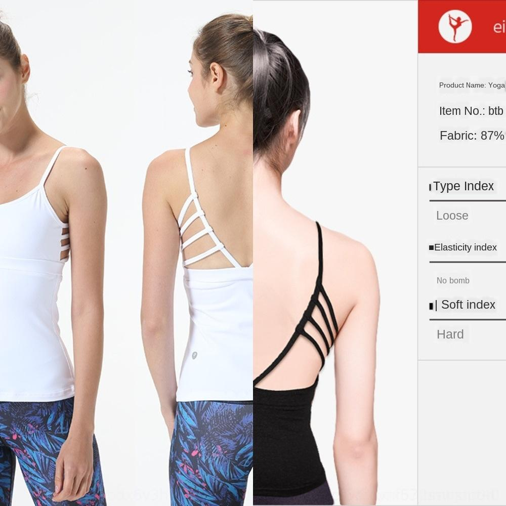 Nuovo bianco sexy di yoga professionale cinghie superiori di forma fisica maglia delle donne dei vestiti di nuovo maglia sottile spalla sport fit UeuDr