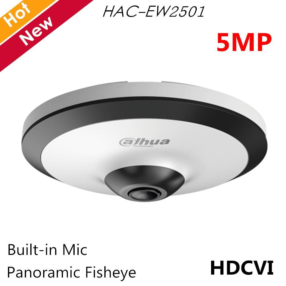 5MP Panoramique fisheye Caméra HDCVI Caméra micro intégré intelligent caméra IR 10m survillance HAC-EW2501 pour les systèmes de vidéosurveillance