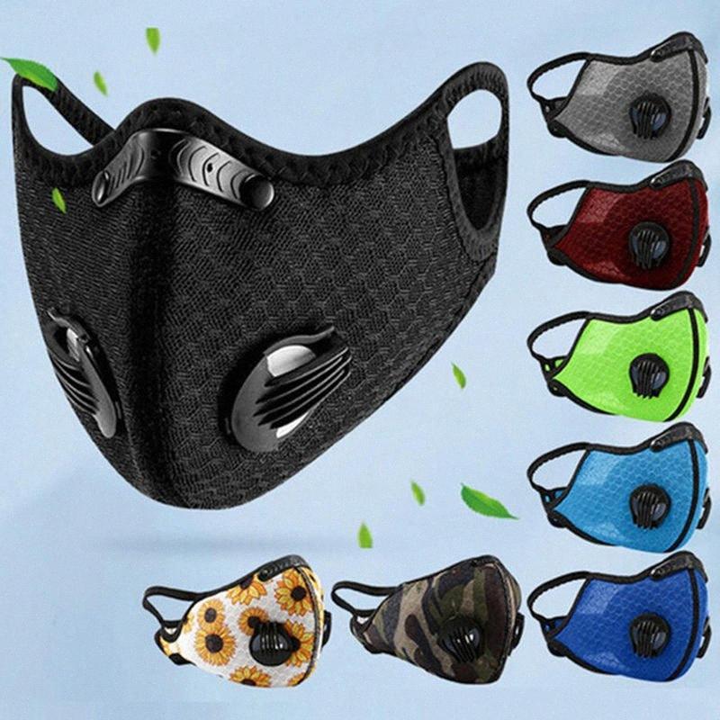 Masque de plein air Cyclisme Activated Carbon Masques visage anti-poussière PM2,5 Sport Masque bouche Courir formation Masque de protection T1I2218 vélo DsjY de #