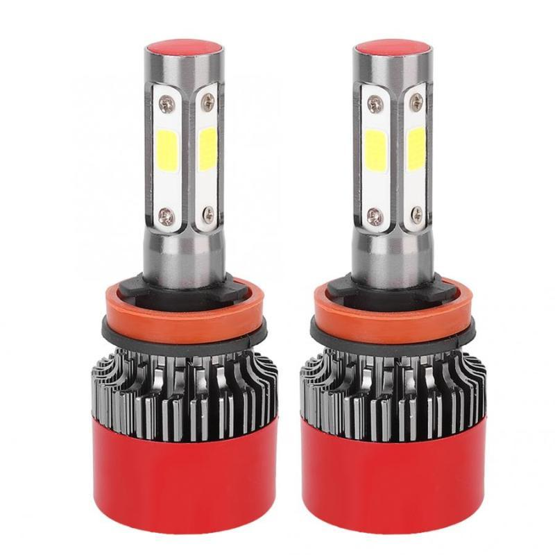 2adet 4-Side Işık EV16 H11 Araba LED Far Ampüller IP67 su geçirmez 6000K Beyaz 28W 8V-48V Oto Aksesuarları Soğuk