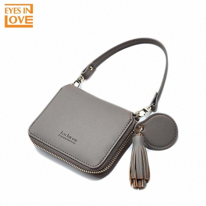 Portefeuilles de femme avec dragonne sac Portable main Femme Adornment Tassel Mirror Cover Pour Portefeuilles K055 SA8k #