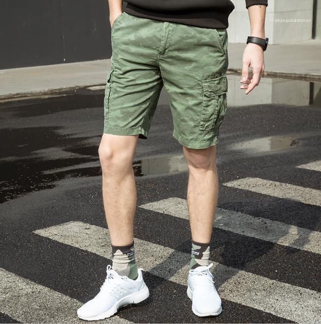 Kleidung Mens-Sommer-Designer Camouflage Shorts Hosen Reißverschluss Relaxed los Midweight Homme Kleidung Mode Casual Male