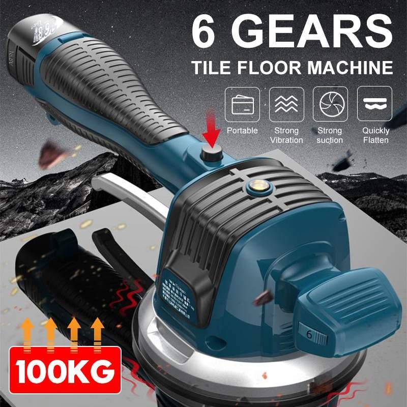 60-120mm kablosuz kiremit vibratör fayans zemin sıva makinesi titreşim makinesi ile 2 pil otomatik zemin vibratör tesviye aracı
