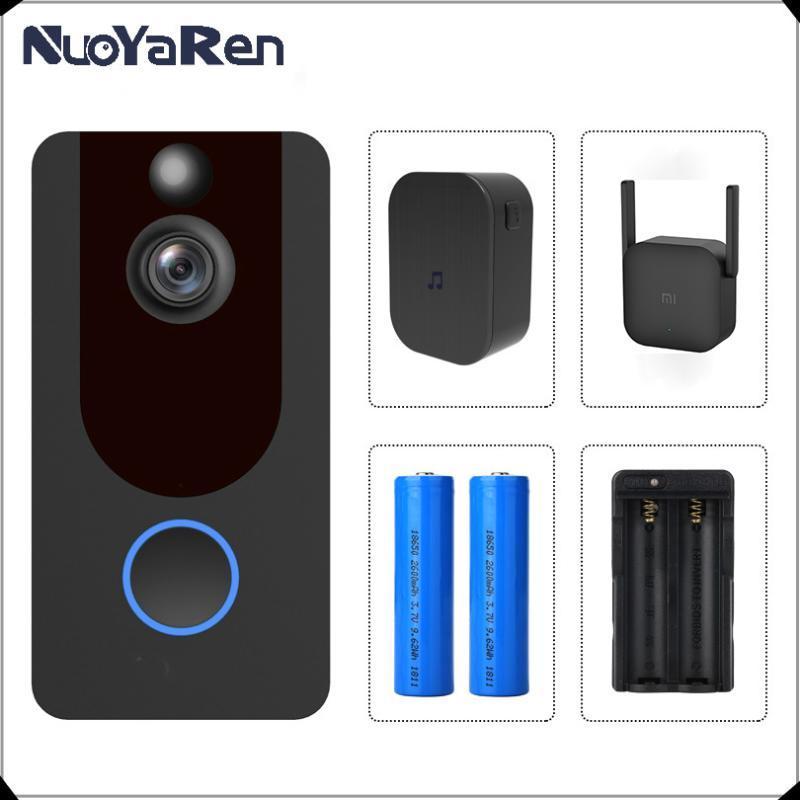 V7 intelligent Sonnette caméra IP 1080P Téléphone Sonnette pour les appartements de sécurité sans fil Alarme IR Interphone WIFI Interphone vidéo