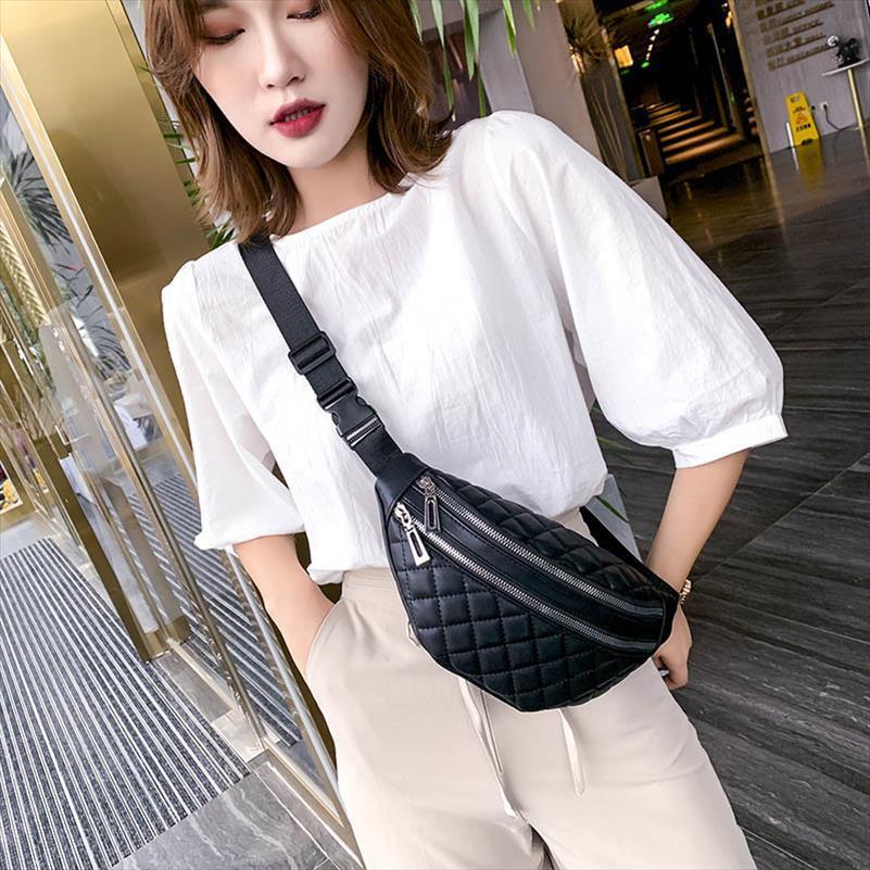 Las nuevas mujeres de la cintura bolso ocasional del mensajero del hombro del paquete de Fanny PU cuero impermeable bolso femenino Pecho Bolsa bolsas de banano pequeño bolsillo