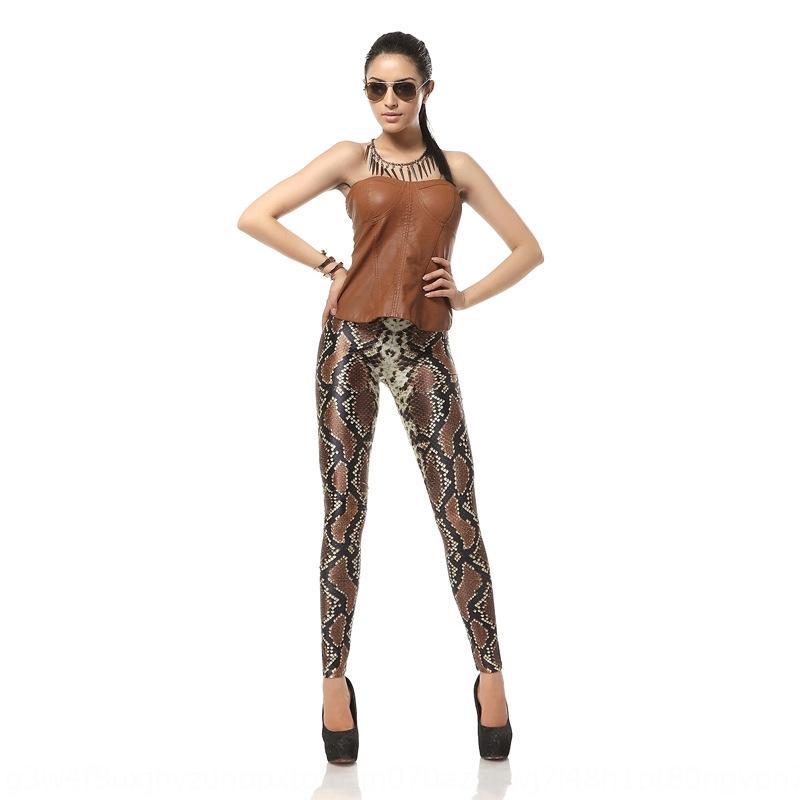 P8kmX Femmes leggings SNAKESKIN impression numérique pantalons serrés pantalons serrés numériques pour KDK1066 d'automne et d'hiver