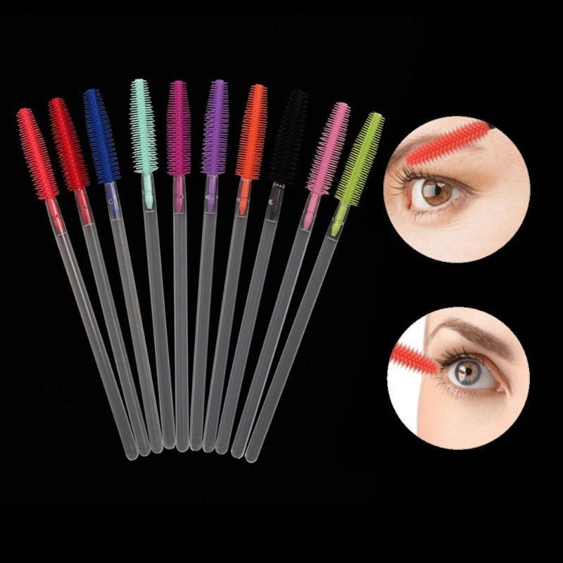 Pinceaux de maquillage 10pcs EXTENSION EXTENSION EAU EN EYCAUVE JUMASCARA Baguettes de Mascara Spoulules à la baguette Eye Lashes Set Outils
