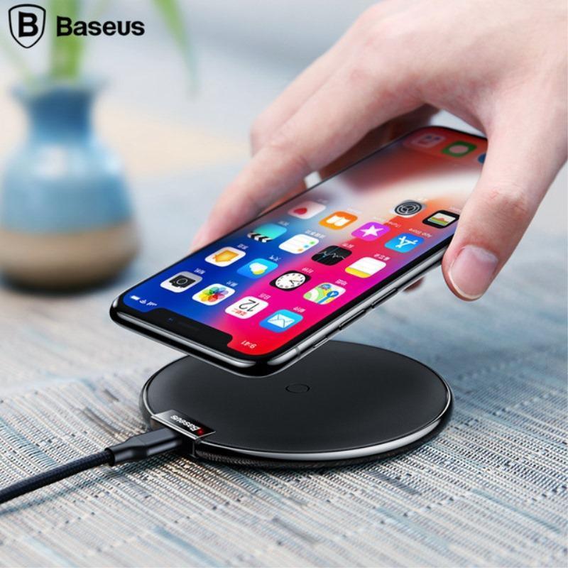 Baseus QI Беспроводное зарядное устройство для Samsung S8 S9 S11 Plus оГо Desktop Wireless Charger с розничной коробкой