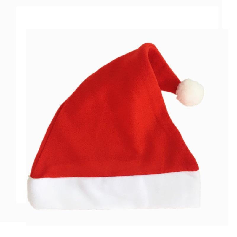 Preço de fábrica! 1500pcs vermelhos chapéus de Papai Noel Ultra Adultos pelúcia macia Natal Cosplay Chapéus Decoração de Natal Festa de Natal Chapéus