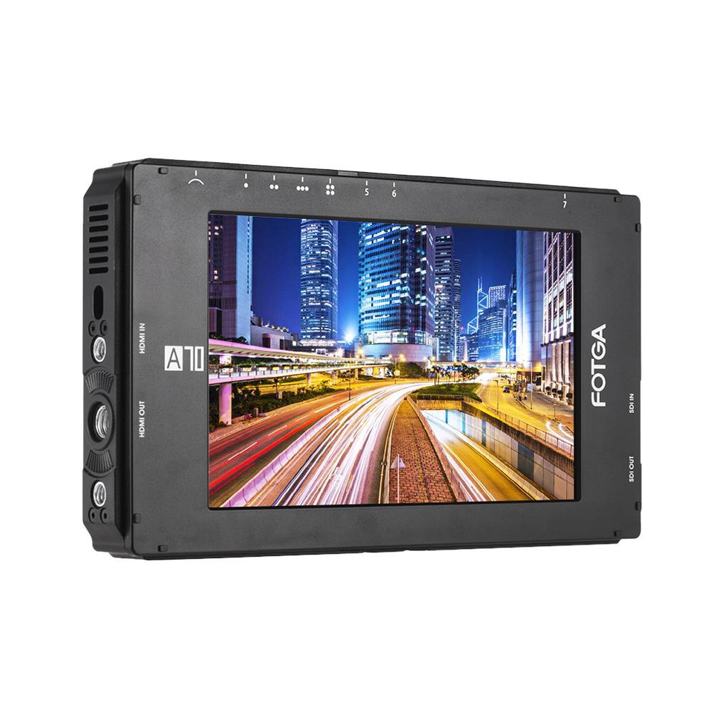 Fotga A70 7 pouces FHD Vidéo à la caméra moniteur IPS écran terrain 4K HDMI d'entrée / sortie double NP-F Plaque Batterie pour A7S II GH5