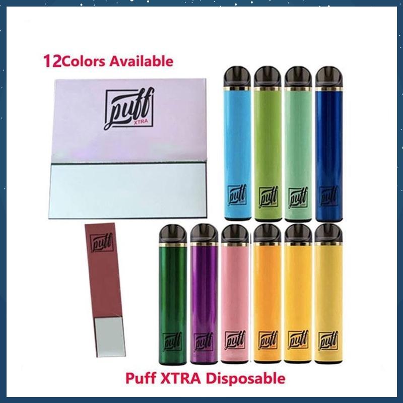 Barra Puff Xtra Dispositivo descartável Vape Pen Starter Kit Bateria 1.4ml 1500 Puffs Cartucho Vape Vape Pen vs Barra Puff Plus Fluxo