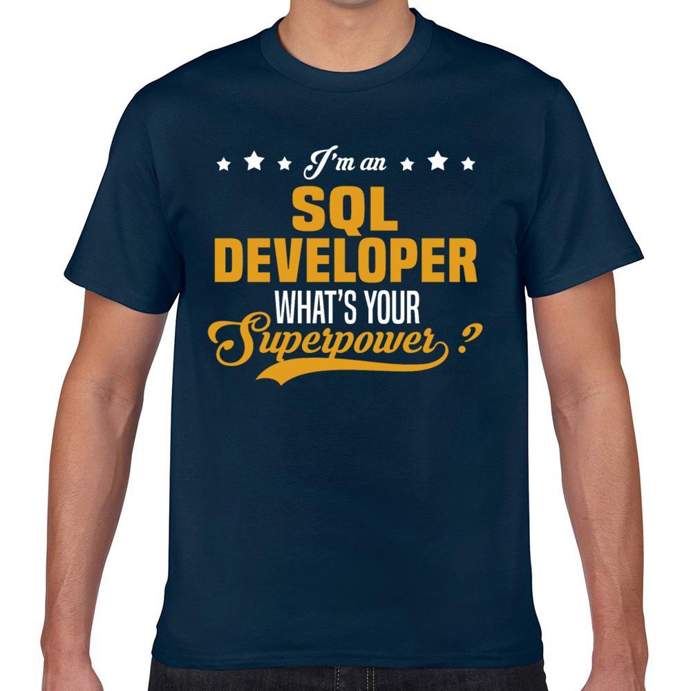 Tops T-shirt des hommes Sql Développeur d'été Harajuku sur mesure T-shirt Homme