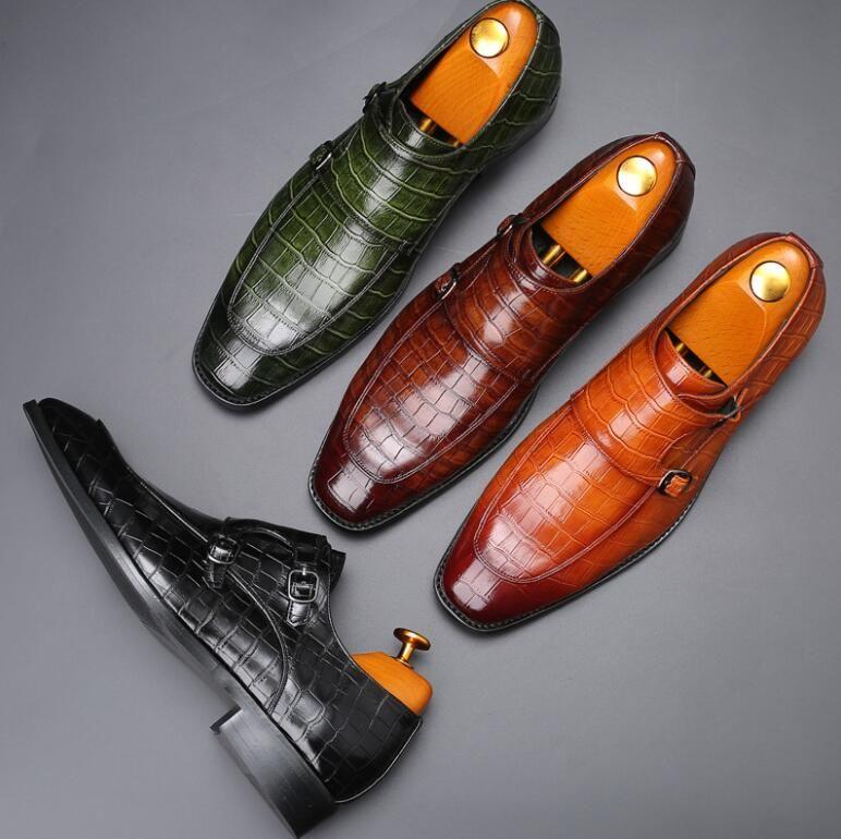 Männer kleiden Schuhe, flache echtes Leder Oxford Herren Wohnungen Hochzeit Büro Loafers Schuhe 38-48 Plus Size Kostenloser Versand