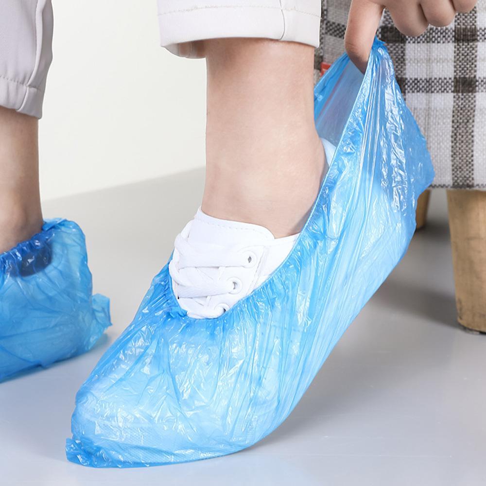 가정용 보호 구두 덮개 일회용 신발 부츠 덮개 방수 비 슬립 방지 내구성 습식 신발 커버 방지