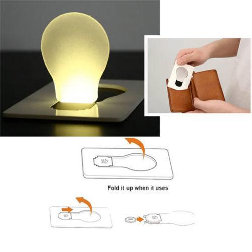 Venta caliente LED Portable poner la tarjeta del bolsillo de la lámpara de luz en la carpeta del monedero Tarjeta luminosa luminoso de la tarjeta de crédito del LED luz de la Navidad