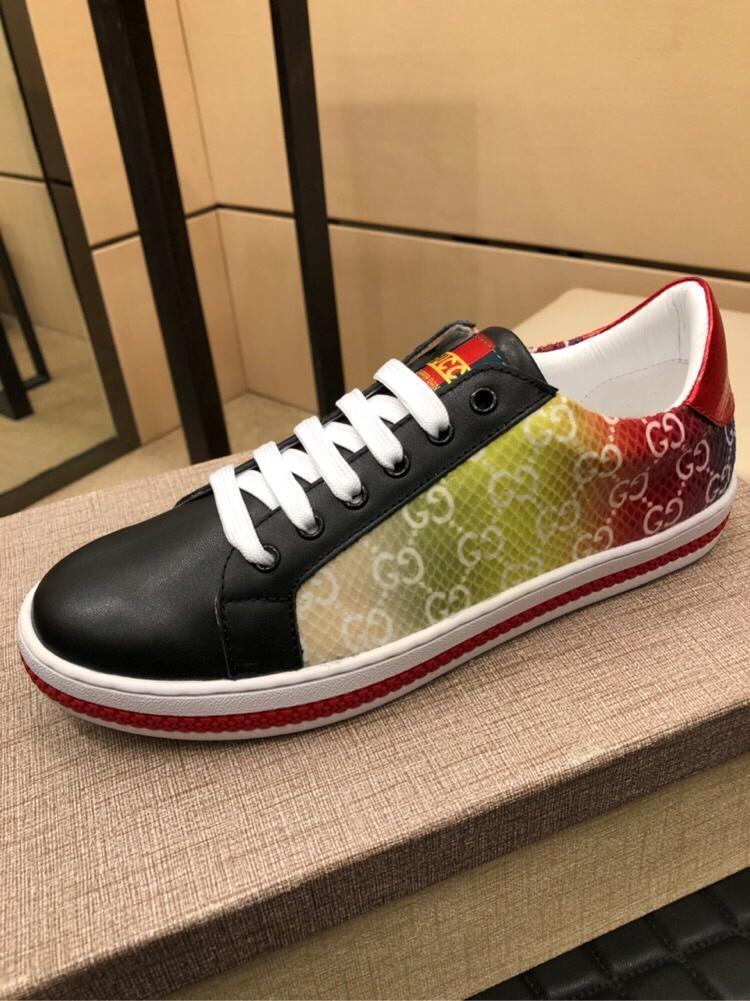 2021x Yeni Yüksek -Uç Lüks Erkekler '; S Moda Rahat Deri Casual Ayakkabı, Erkekler'; S Tide Marka Moda Vahşi Doğa Sporları Ayakkabı