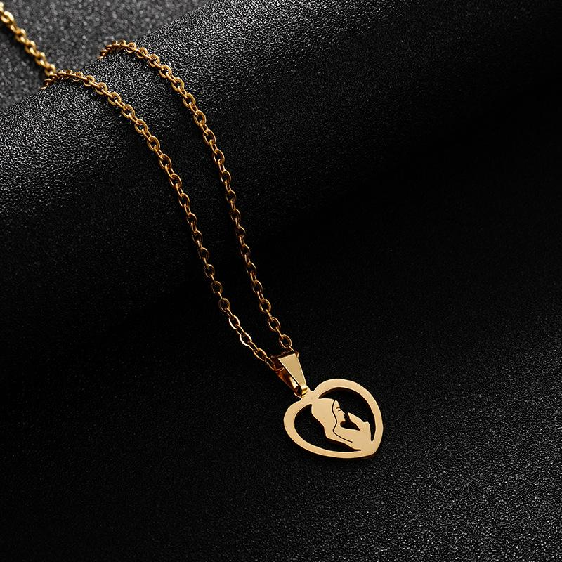 JINWATERYU нержавеющей стали Богородица ожерелье Vintage аксессуары Lady Party Церемония
