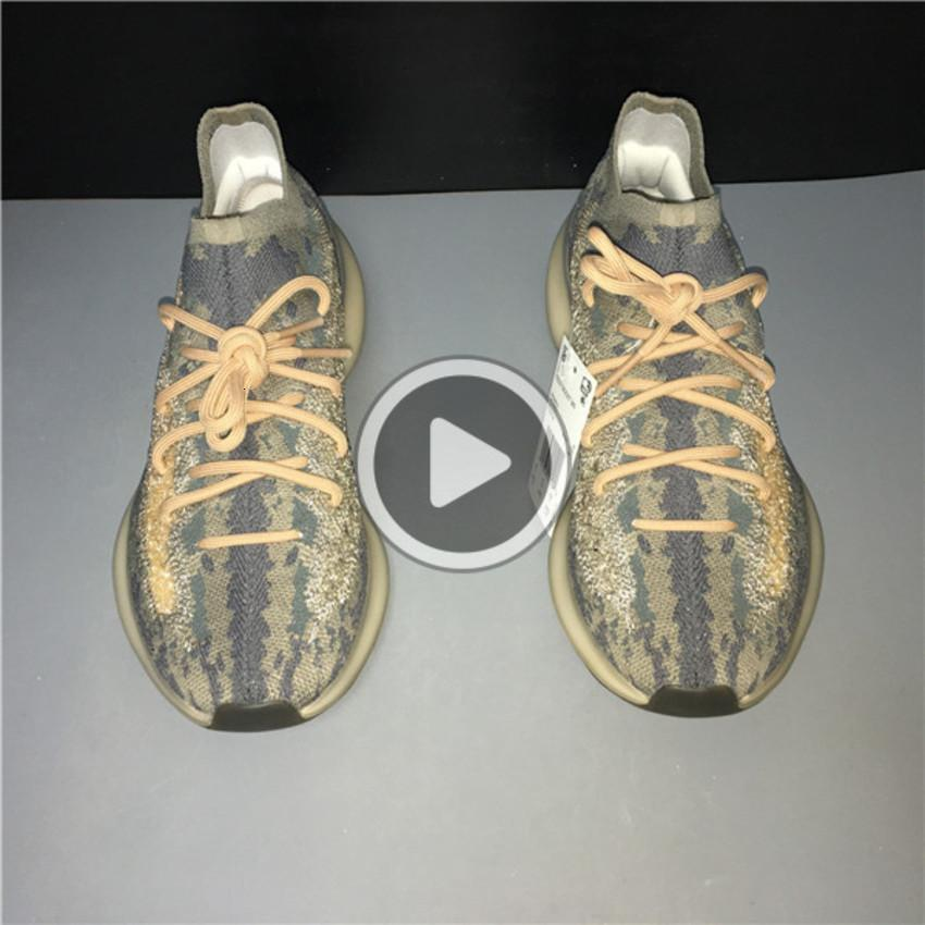 Lanzamiento Marca Niebla 380 Extranjero Kanye West Zapatos para correr para hombre reflexivo mujeres zapatillas de deporte del deporte del baloncesto