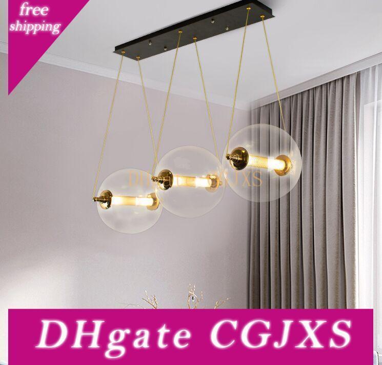 Diseñador nuevo estilo nórdico luces pendientes Salón Dormitorio Decoración llevó G4 Droplight post Moderna Bola de cristal Combo Doprlight Myy