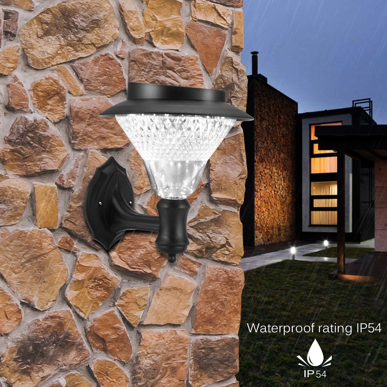 Portátil 8 LED Solar Jardim Luz de parede Cerca Led luz ao ar livre Quintal Paisagem decorativa Luz decorativa Lâmpada de suspensão