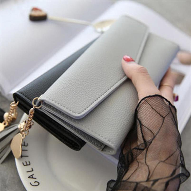 Bolsas designer moeda telefone telefone crédito marca longa carteiras de embreagem carteiras cartão tassel fêmea mulheres sacos de dinheiro qoqhh