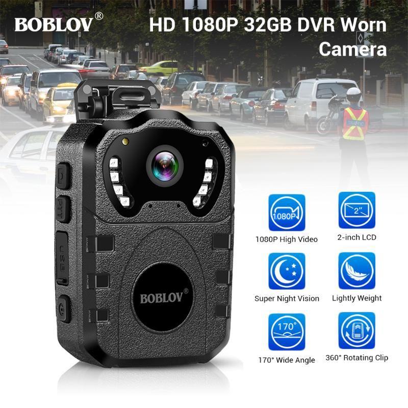 BOBLOV WN10 HD 1080P 몸 캠 휴대용 적외선 IR 야간 카메라 루프 기록 보안 DVR 비디오 레코더 몸 낡은 카메라